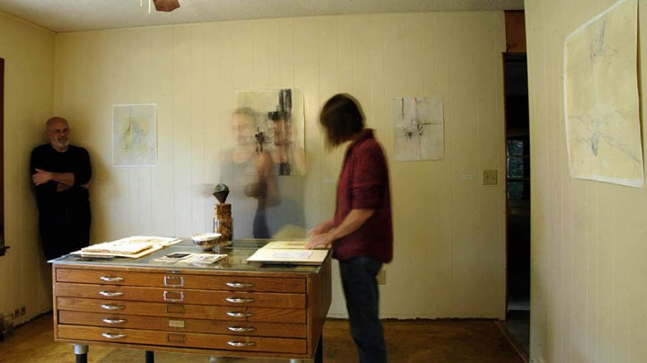Resident Artist, Connie Karleta Sales with Tracy Hicks, Fall 2013©Tracy Hicks